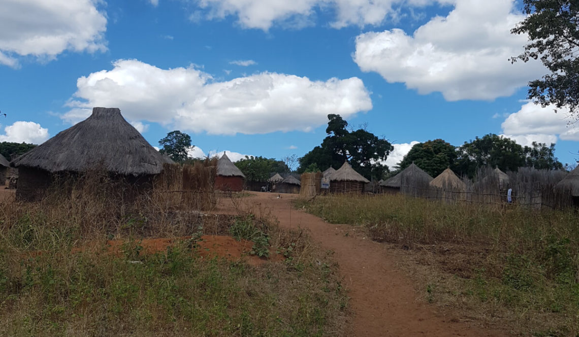 A rural village in Zambia.