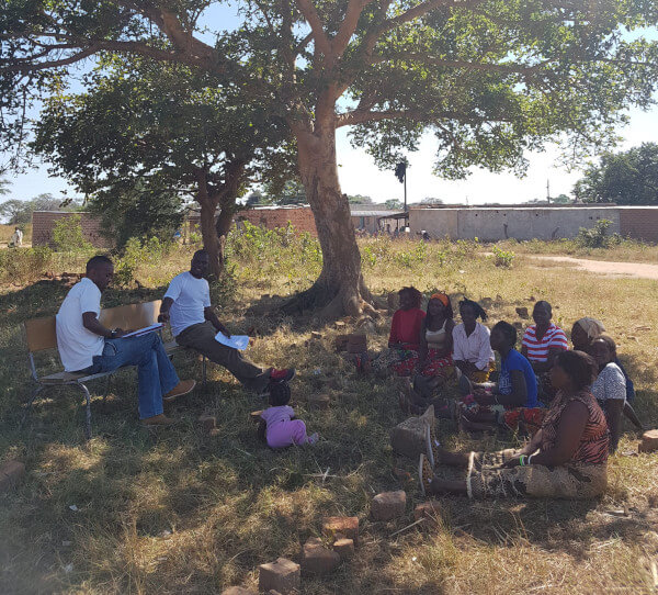 Focus group under shade of a tree