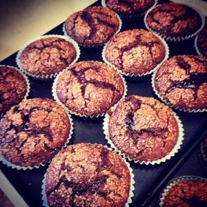 Gluten free blackberry muffins.