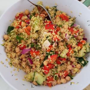 Lucy's couscous salad.